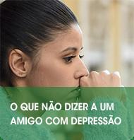 O que não dizer a um amigo com depressão